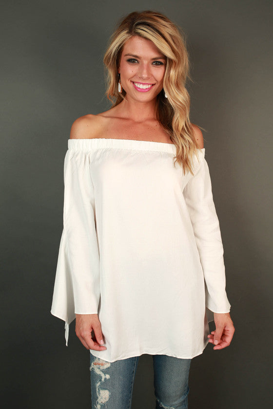 Simple & Sophisticated Off Shoulder Top