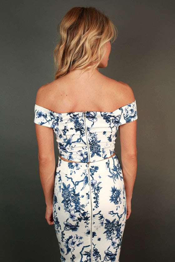 Blissful in Blue Floral Top