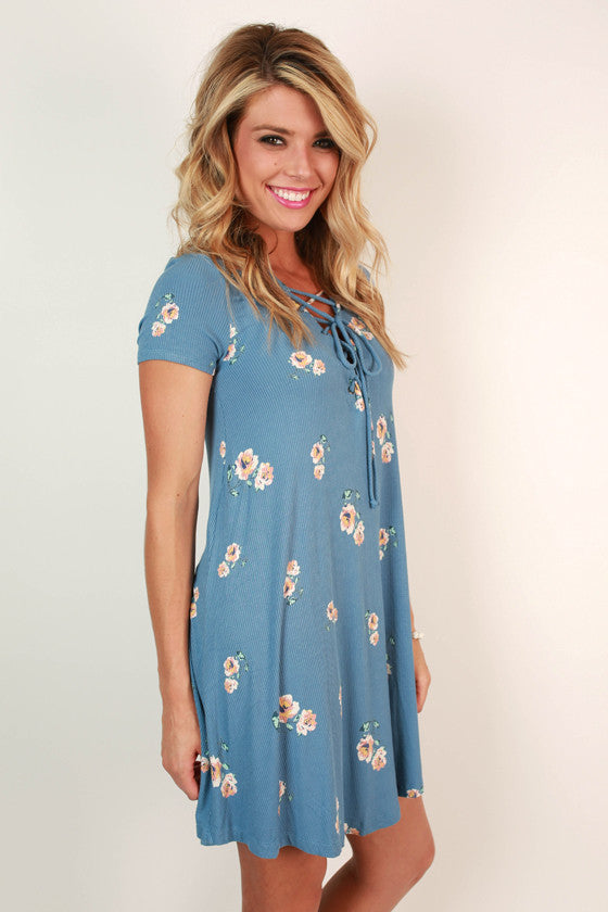 Front Row Fab Floral Shift Dress