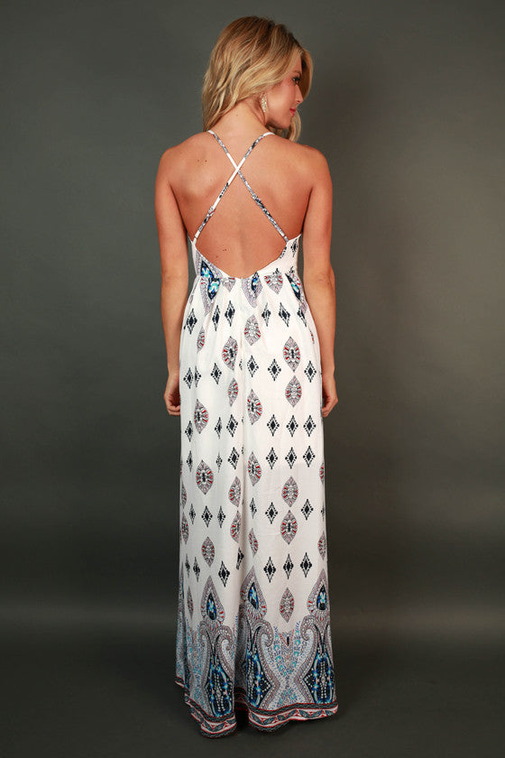 Seaside Sunsets Maxi Dress