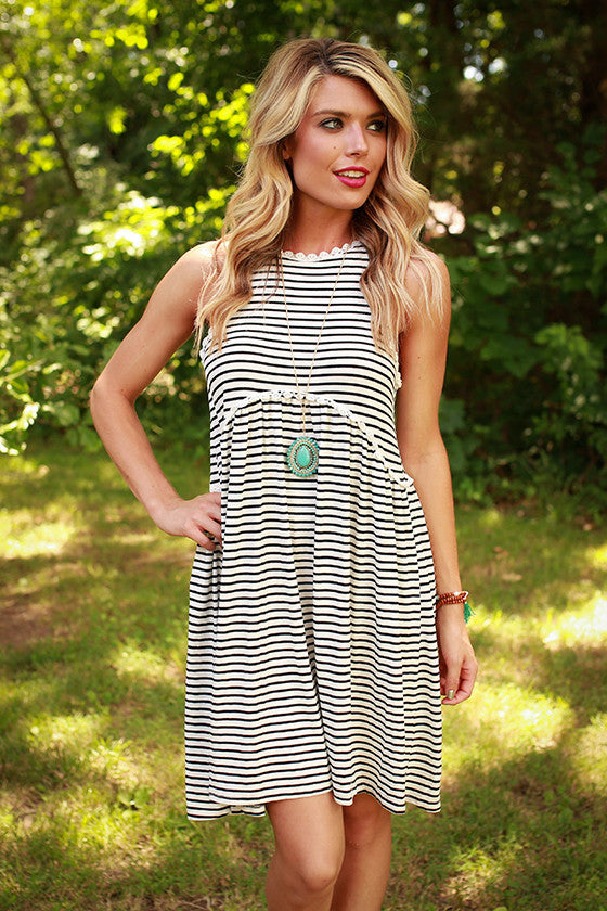 Fashion Queen Tank Dress in White