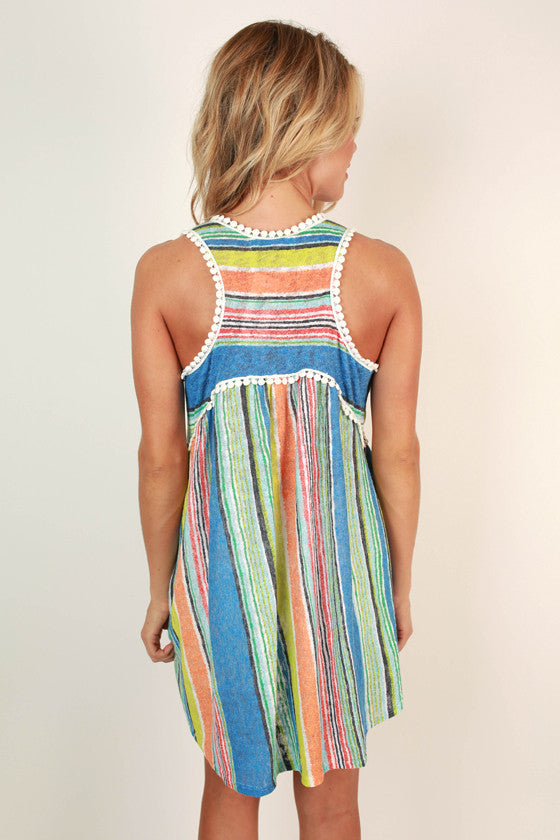 Bright Ideas Stripe Babydoll Tank in Snorkel Blue