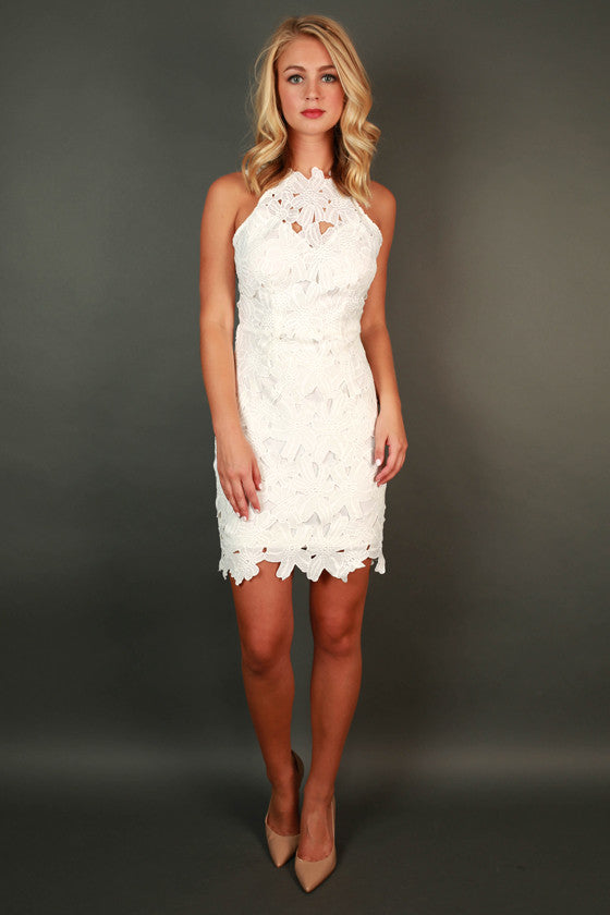 Uptown Party Mini Dress in White