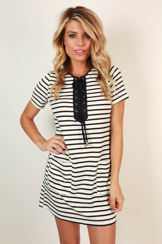 Nautical Love Stripe Shift Dress