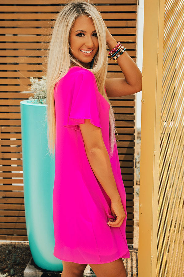 b2de365cdf72 Stunningly Chic Shift Dress in Neon Berry • Impressions Online Boutique