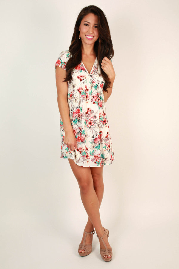 Summer in Sicily Floral Dress