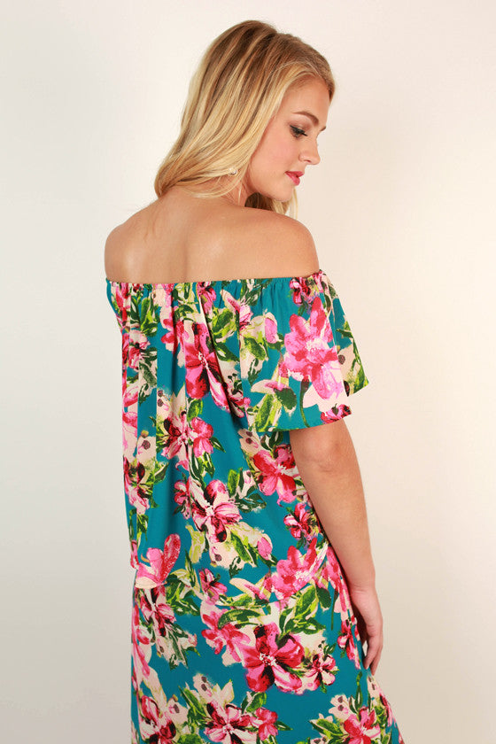 All's Fair in Love & Floral Off Shoulder Top