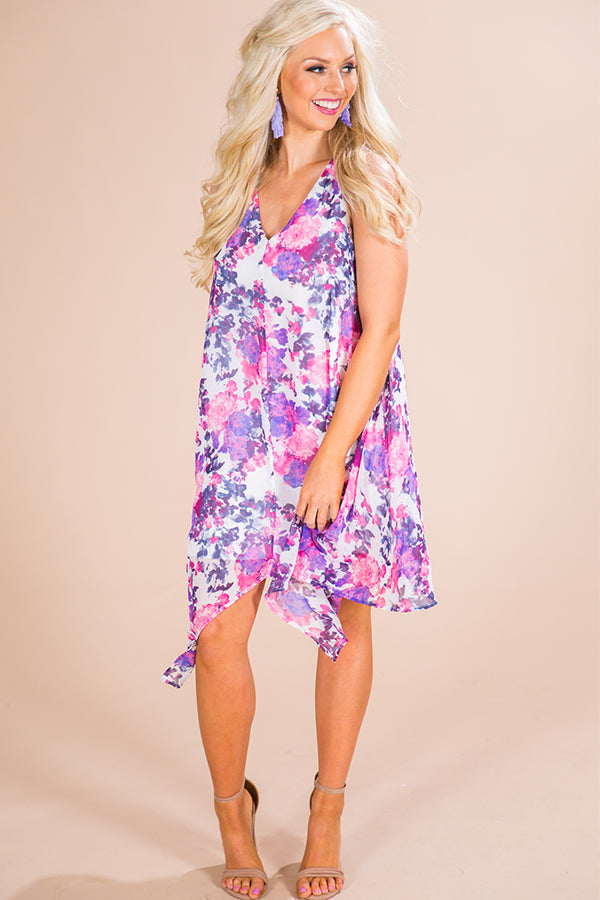 Make Ya Blush Floral Shift Dress