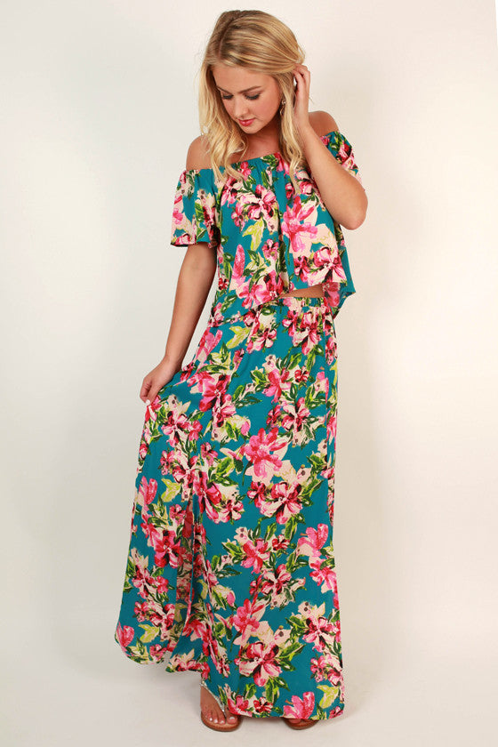 All's Fair in Love & Floral Maxi Skirt