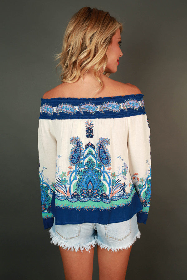 Forget Me Not Off Shoulder Top