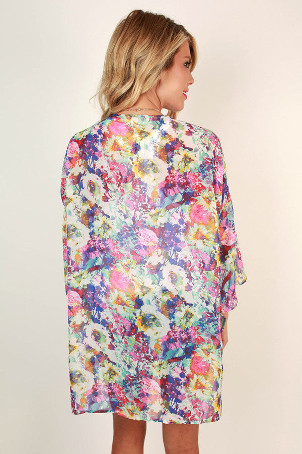 Burst Of Floral Overlay