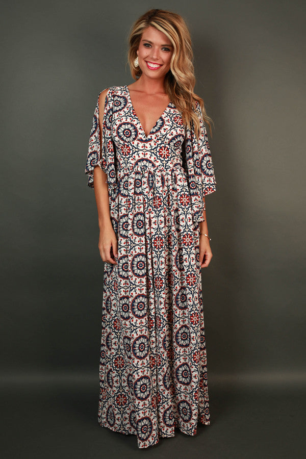 Dreamin' About You Print Maxi