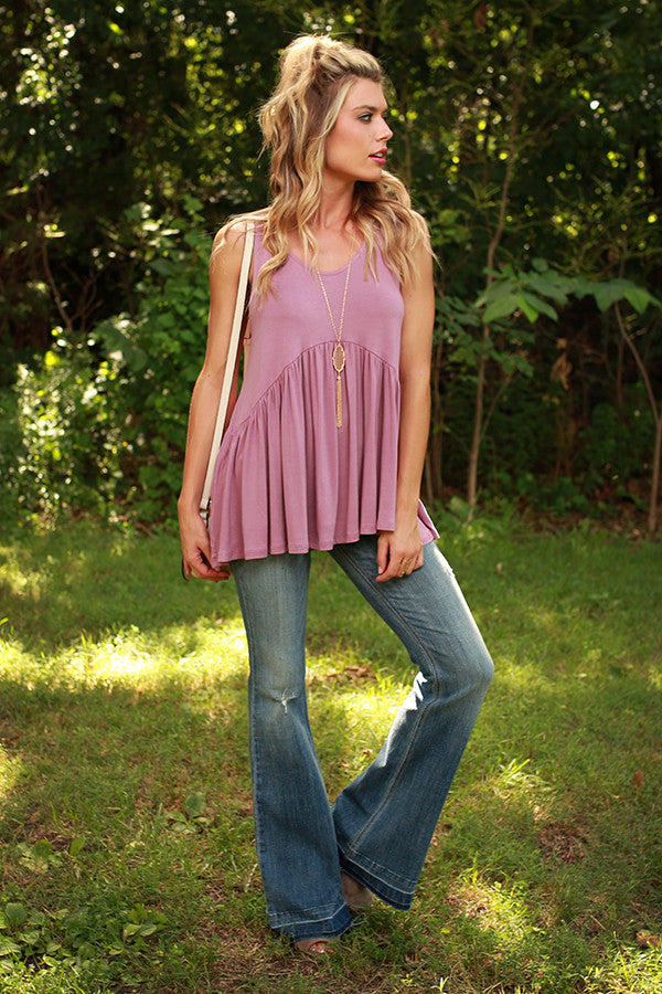 Concert Season Babydoll Tank in Orchid