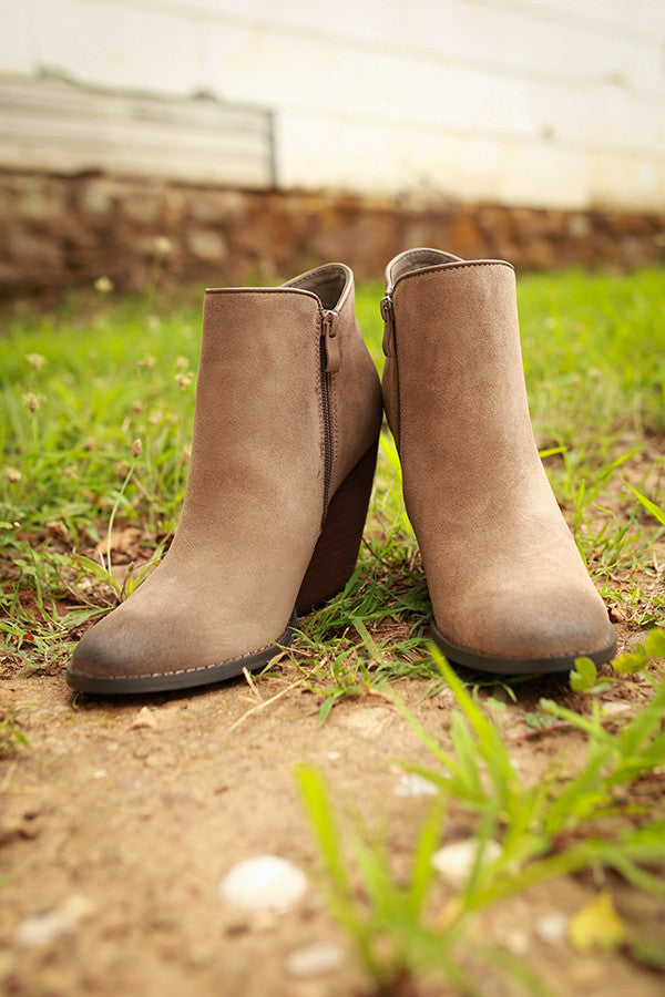 Whitby Bootie in Taupe