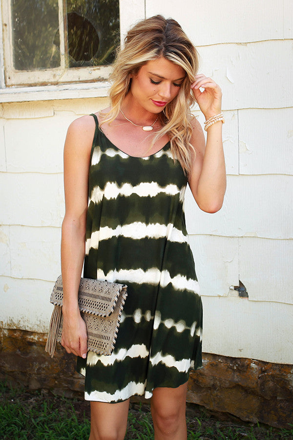 Autumn Tie Dye Shift Dress