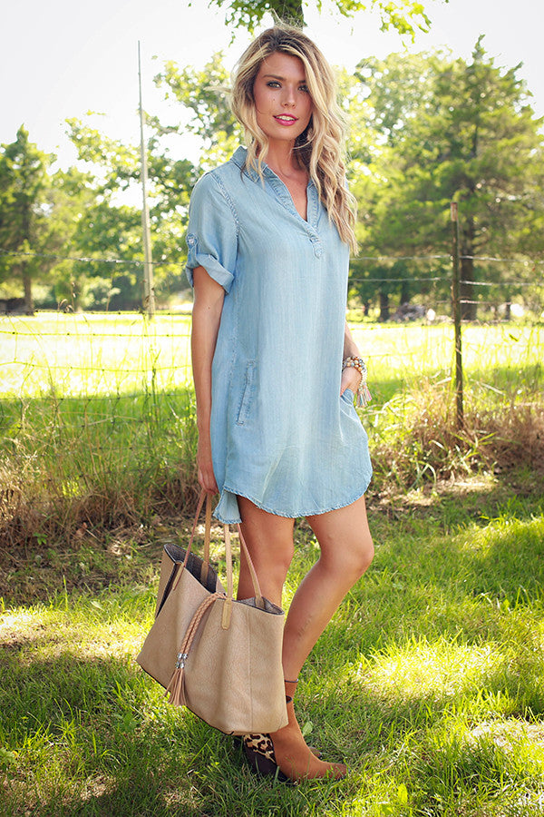 Cape Cod Chic Chambray Tunic