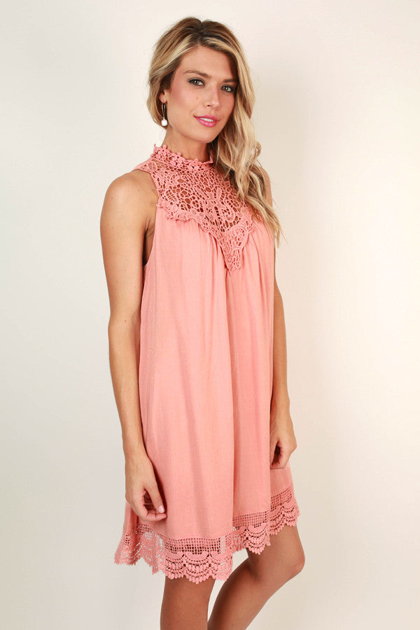 Perfect Kind Of Love Shift Dress in Peach