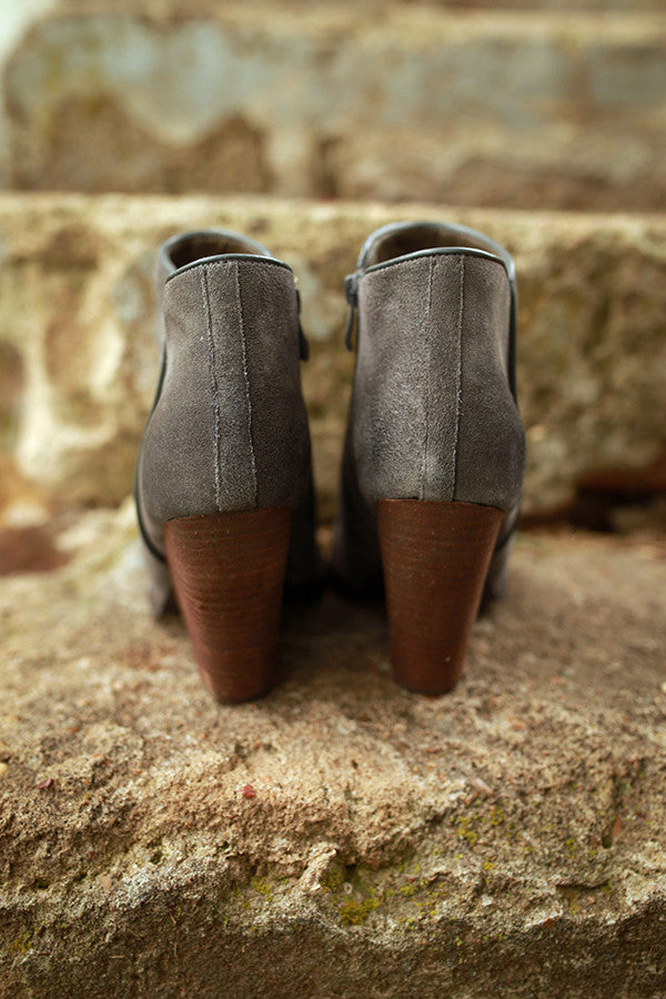 Whitby Bootie in Charcoal