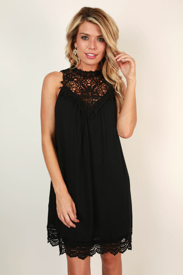 Perfect Kind Of Love Shift Dress in Black