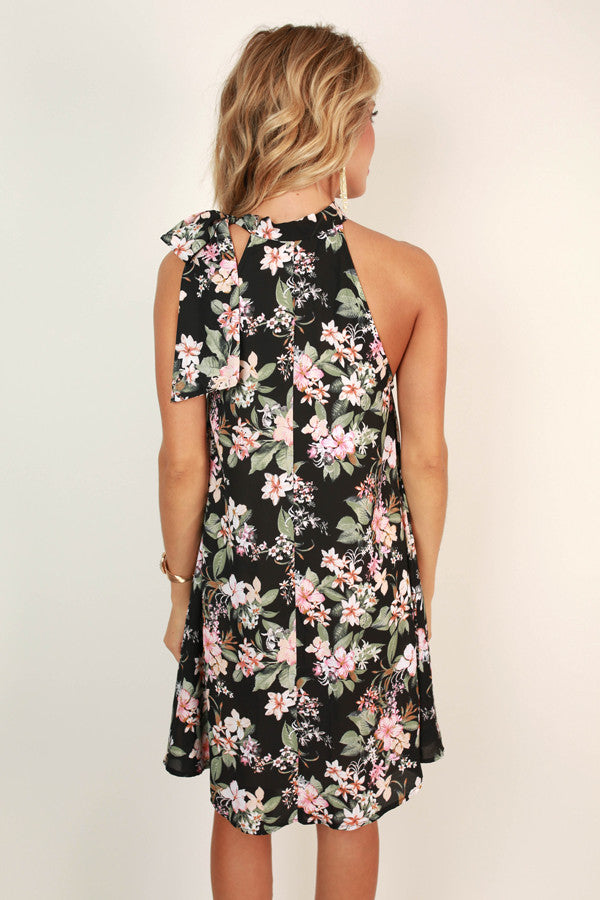 Traveling Abroad Floral Shift Dress