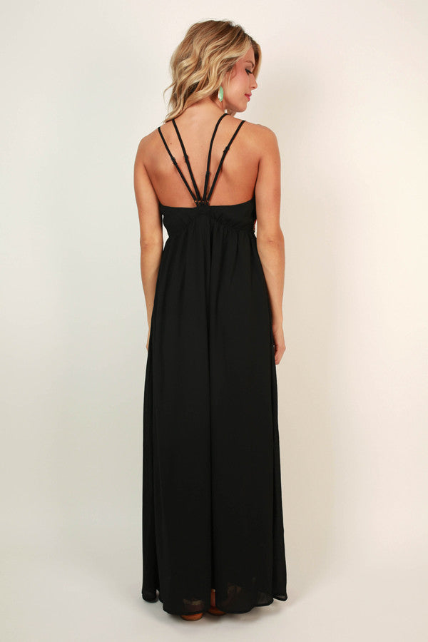 Sun Goddess Maxi in Black