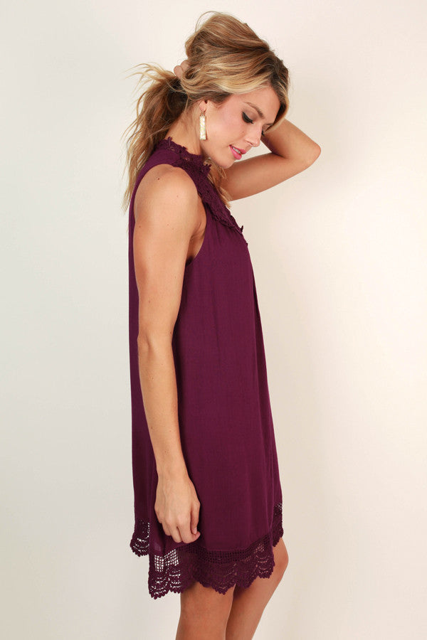 Perfect Kind Of Love Shift Dress in Berry