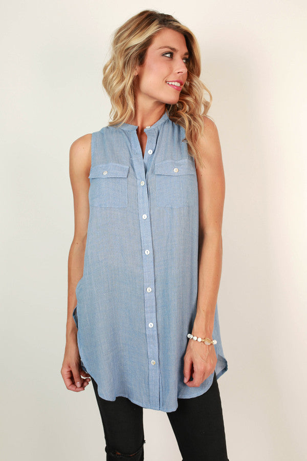 Fashion Week Button Up Tank