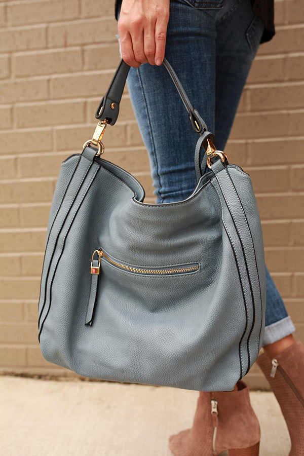 The Traveler Tote in Light Slate
