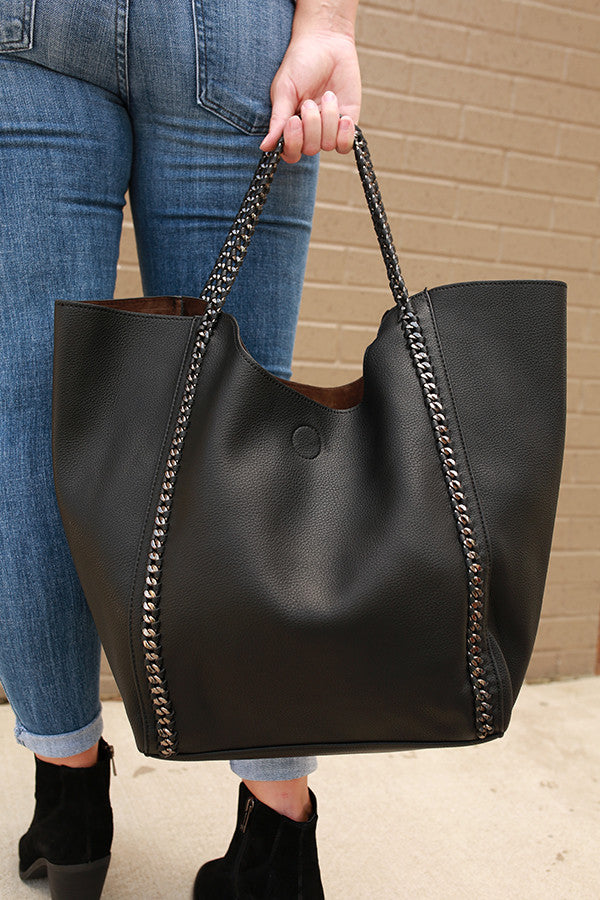 The Essential Tote Bag in Black