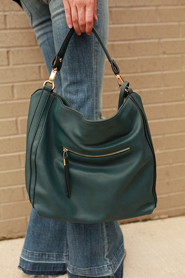 The Traveler Tote in Teal