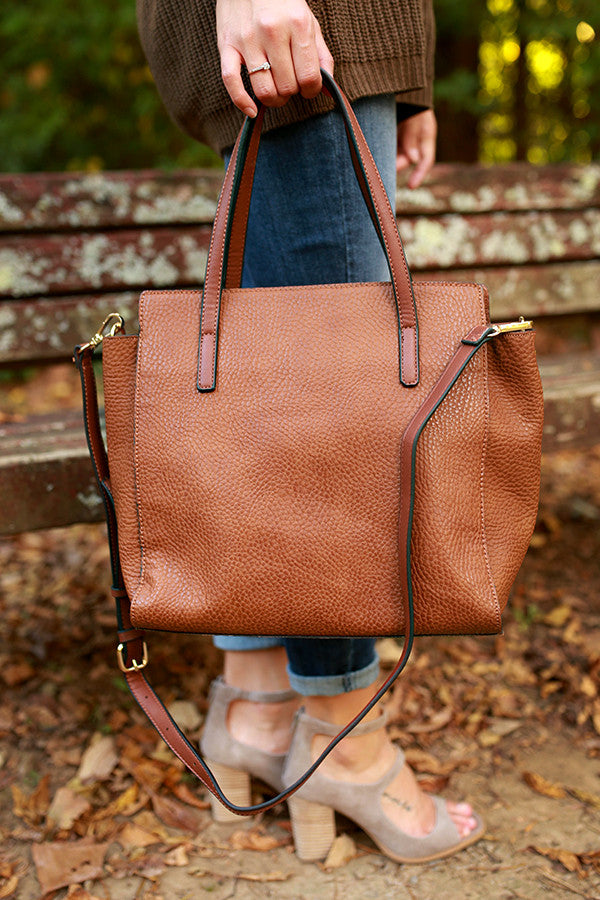 Style in the City Tote Bag in Maple