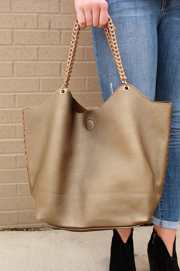 The Manhattan Tote Bag in Pewter