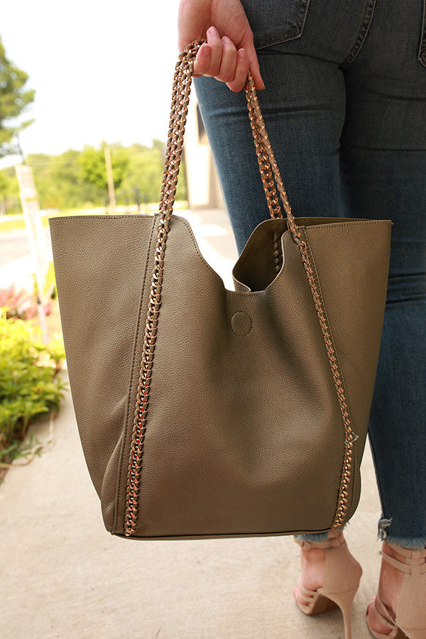 The Essential Tote Bag in Pewter