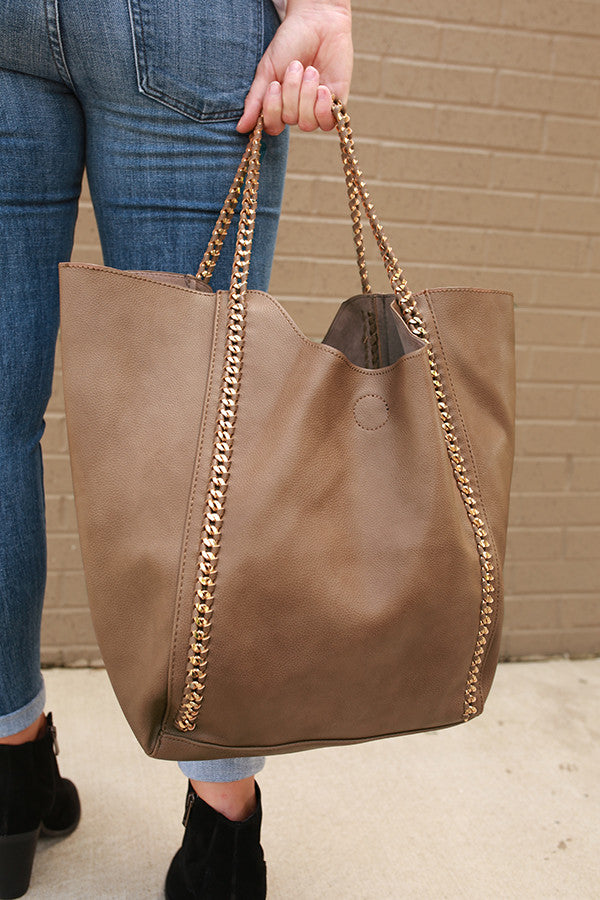 The Essential Tote Bag in Mocha