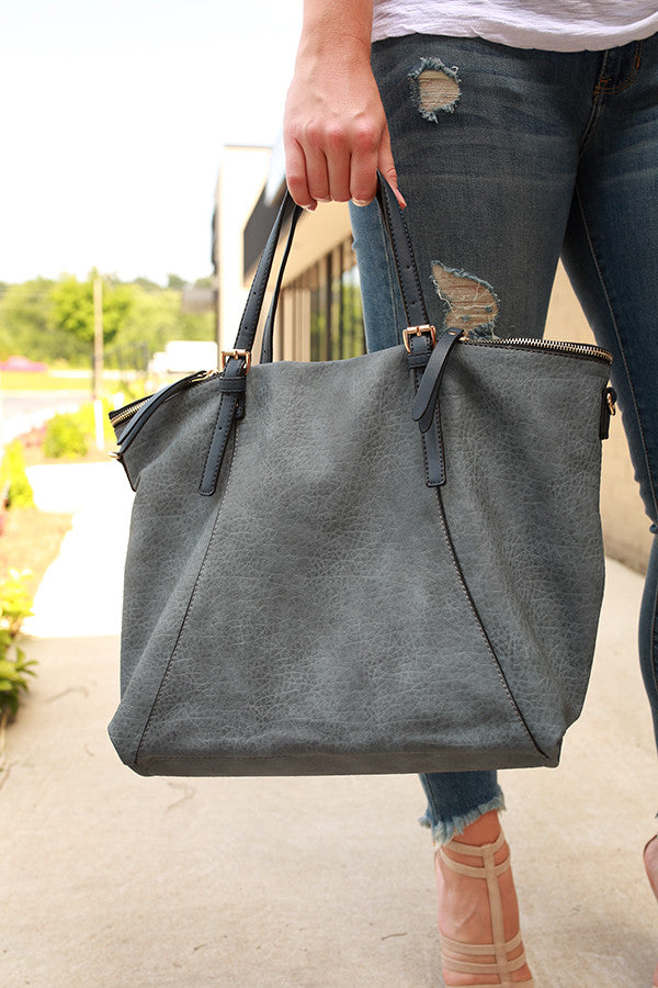 World Tour Tote in Slate