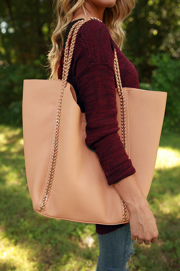 The Essential Tote Bag in Tan
