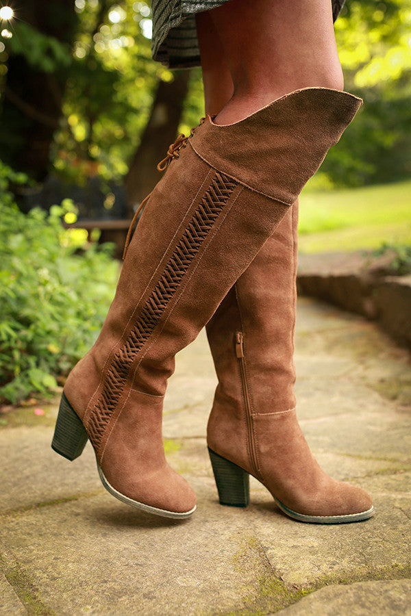 Gusto Over The Knee Boot in Brown