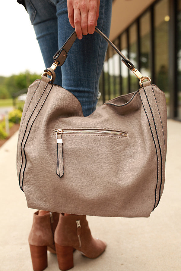The Traveler Tote in Taupe
