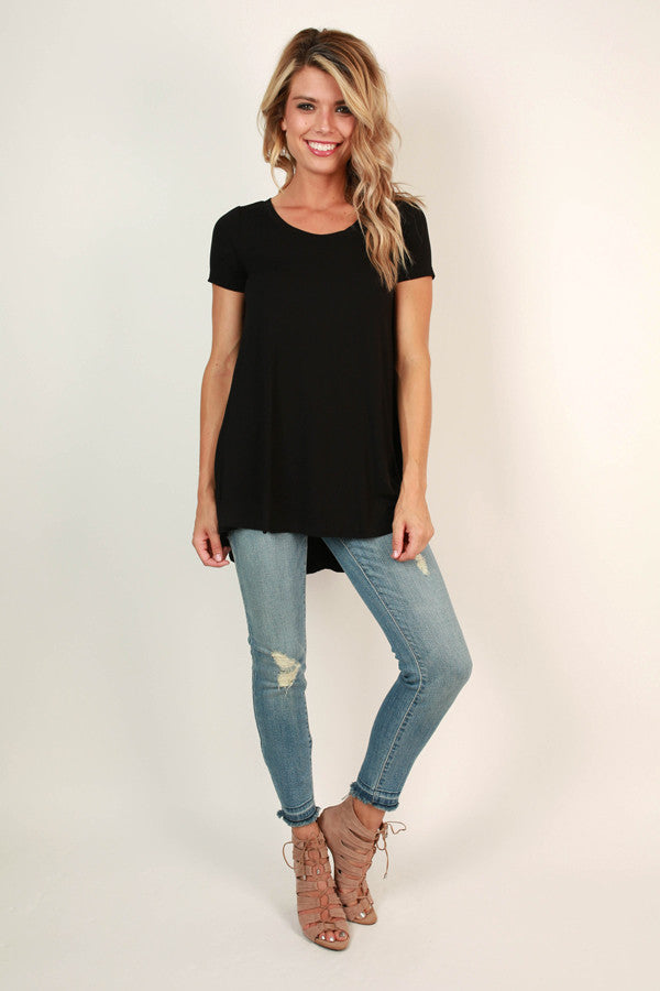 Chic Alert Top in Black