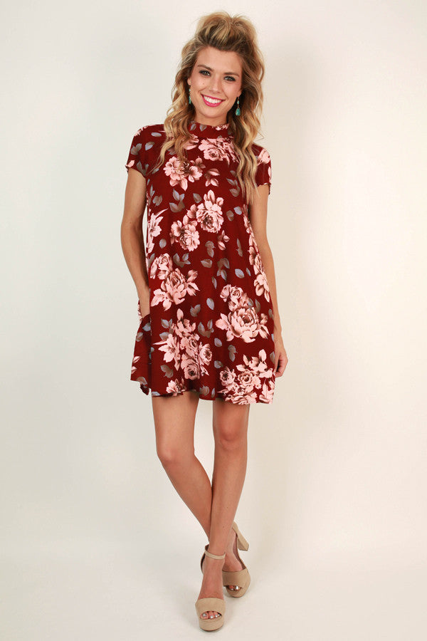 Vino in Napa Valley Floral Shift Dress
