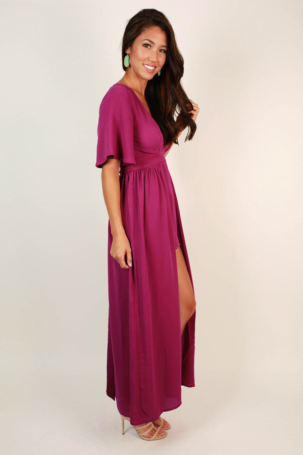 Haute in Hawaii Maxi in Berry