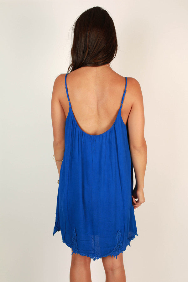 Social Hour Shift Dress in Royal Blue