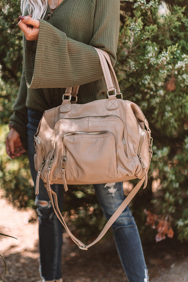The Adventure Faux Leather Tote in Birch