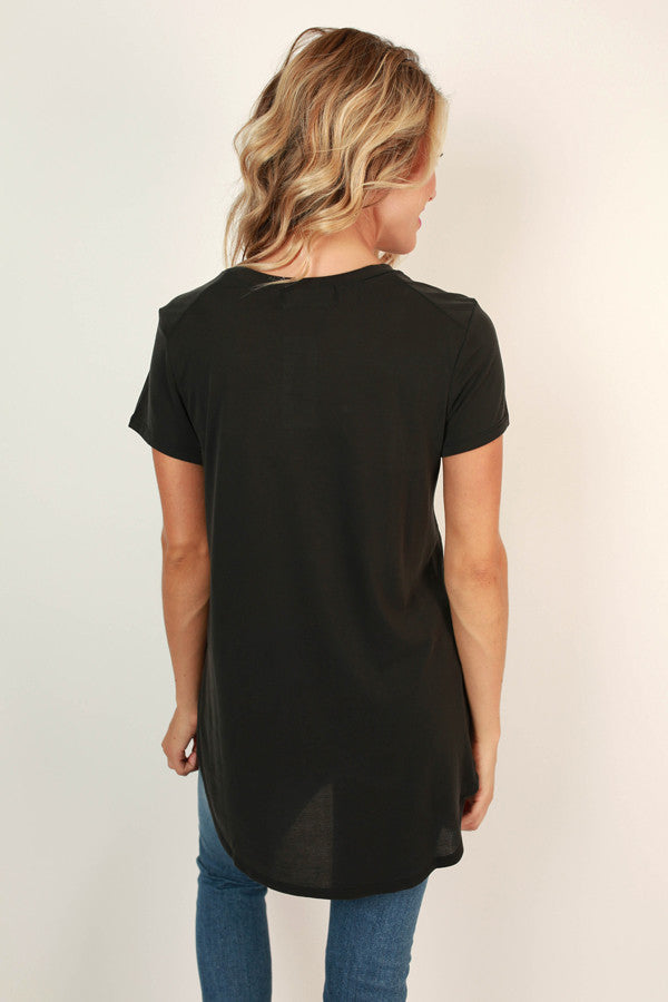 Sonoma Softness Shift Tee in Black