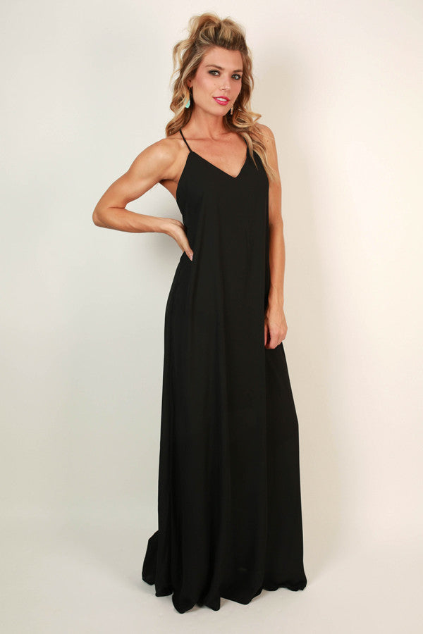Hey Soul Sister Maxi Dress in Black