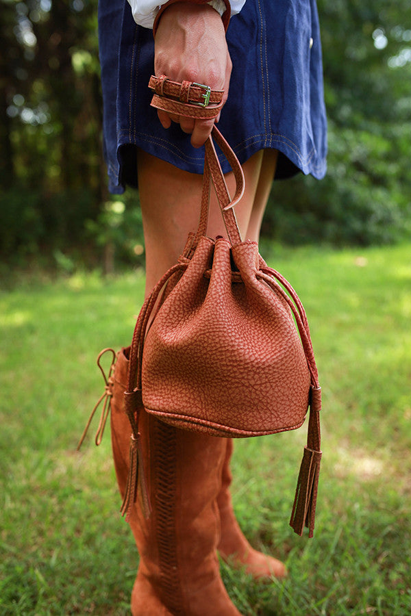 All About it Bucket Bag in Aurora Red