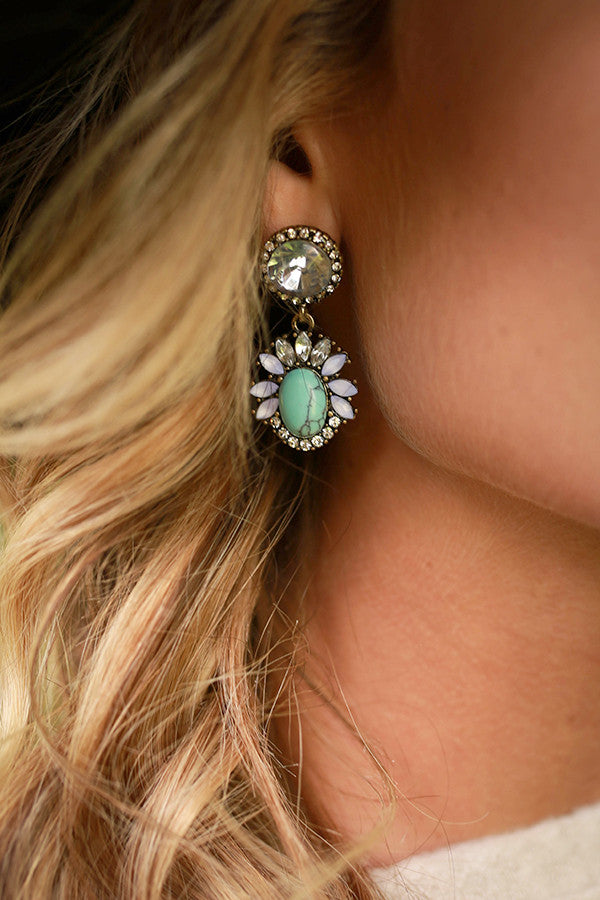 Fall For Me Gem Earring