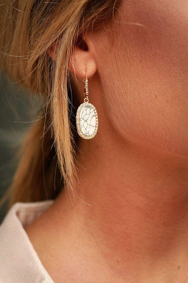 Oceans Edge Earrings in White
