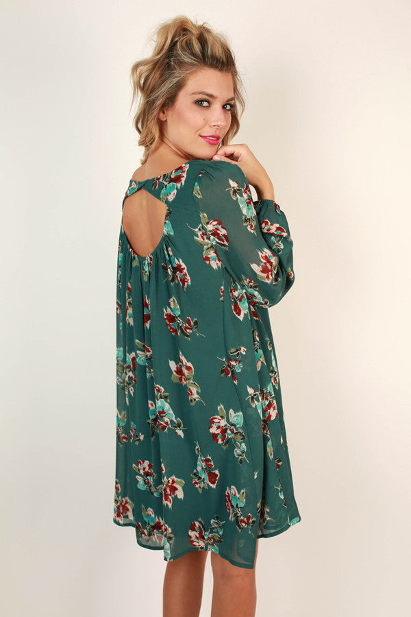 Charleston Floral Shift Dress in Lush Meadow