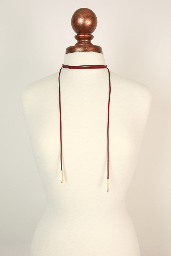 Make Ya Dance Choker Necklace in Rustic Rose